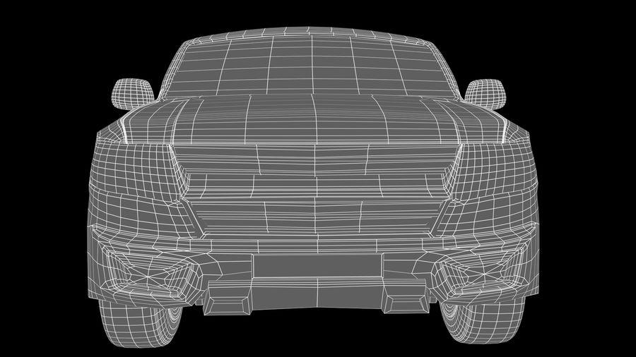 Pickup (no Interior) royalty-free 3d model - Preview no. 12