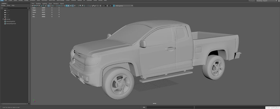 Pickup (no Interior) royalty-free 3d model - Preview no. 15