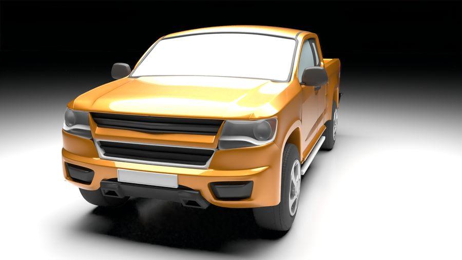 Pickup (no Interior) royalty-free 3d model - Preview no. 5