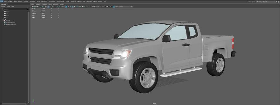 Pickup (no Interior) royalty-free 3d model - Preview no. 14