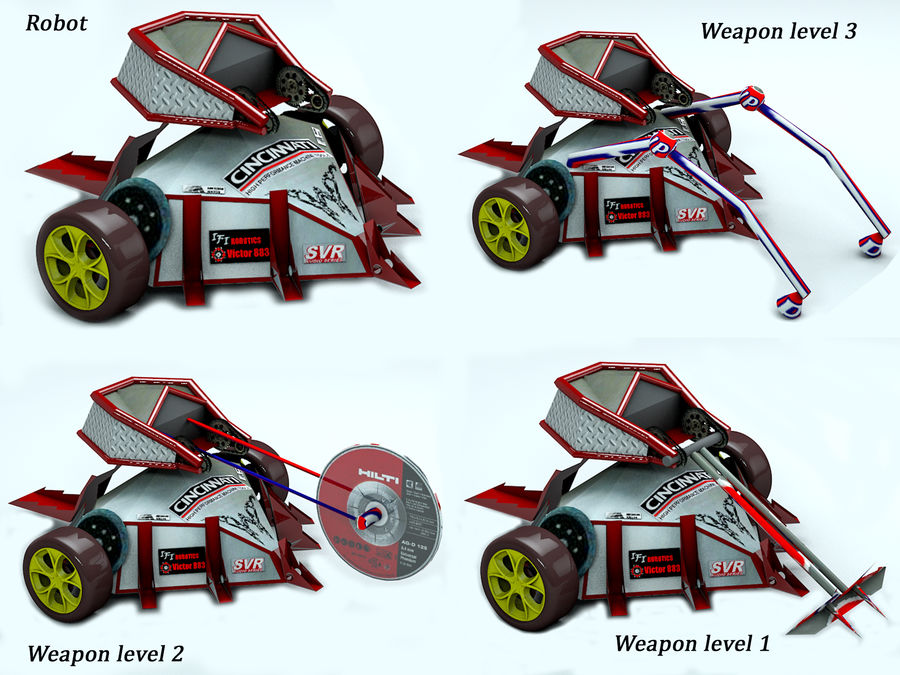 Tazbot kämpfender Roboter royalty-free 3d model - Preview no. 9