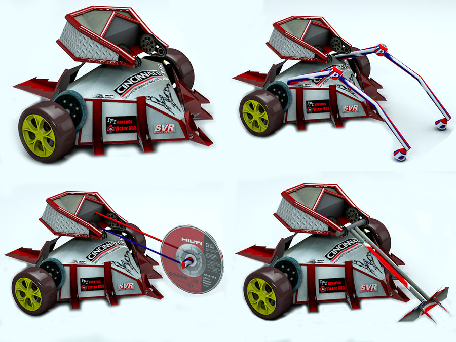 Tazbot Fighting Robot royalty-free 3d model - Preview no. 7