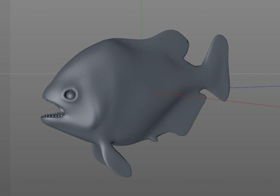 Piranha Fish Rigged royalty-free 3d model - Preview no. 15