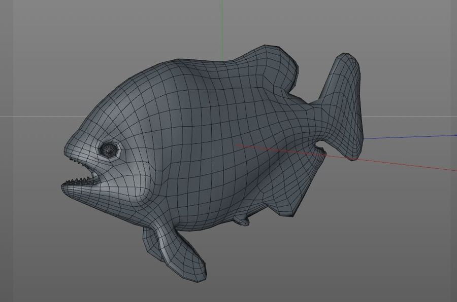 Piranha Fish Rigged royalty-free 3d model - Preview no. 13