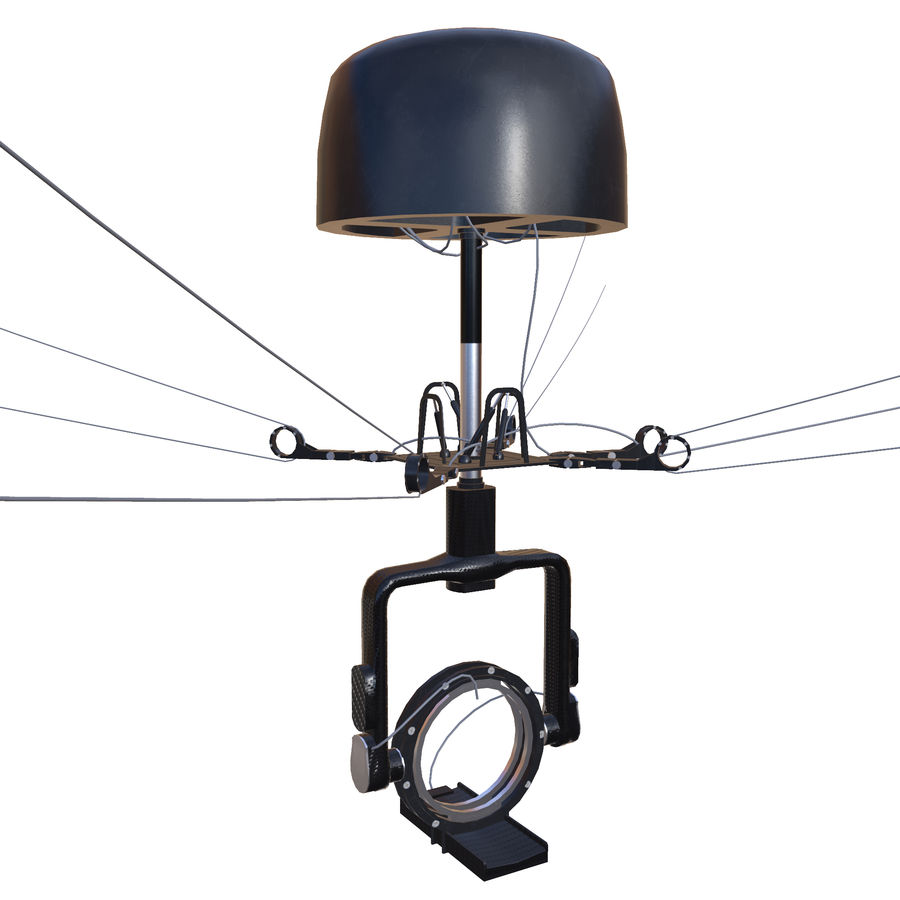 Sport Spidercam pour les stades de terrain royalty-free 3d model - Preview no. 3