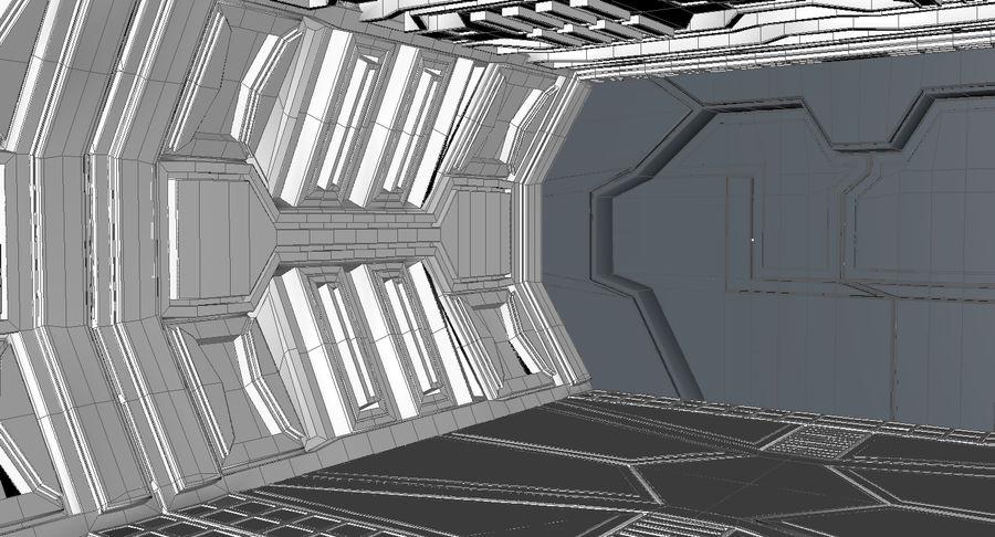 Sci fi corridor 3d model royalty-free 3d model - Preview no. 16