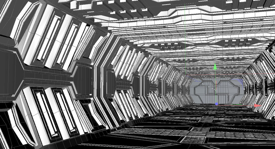 Sci fi corridor 3d model royalty-free 3d model - Preview no. 13