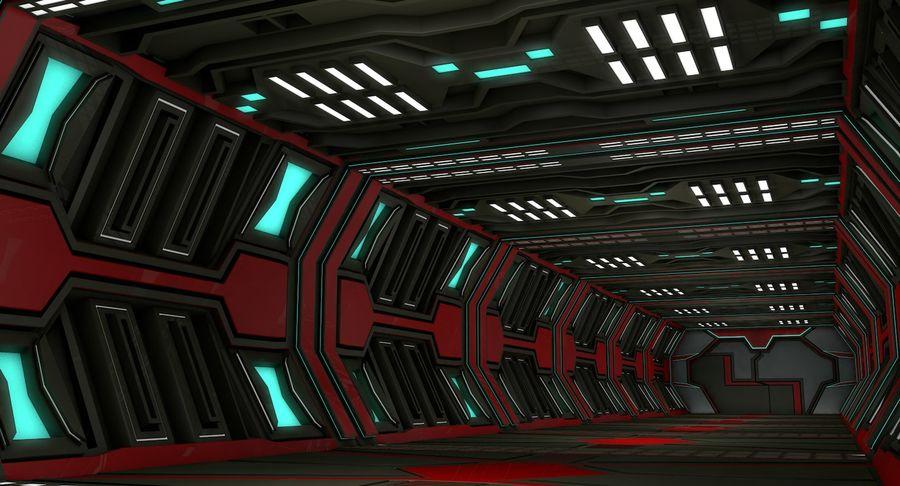 Sci fi corridor 3d model royalty-free 3d model - Preview no. 3