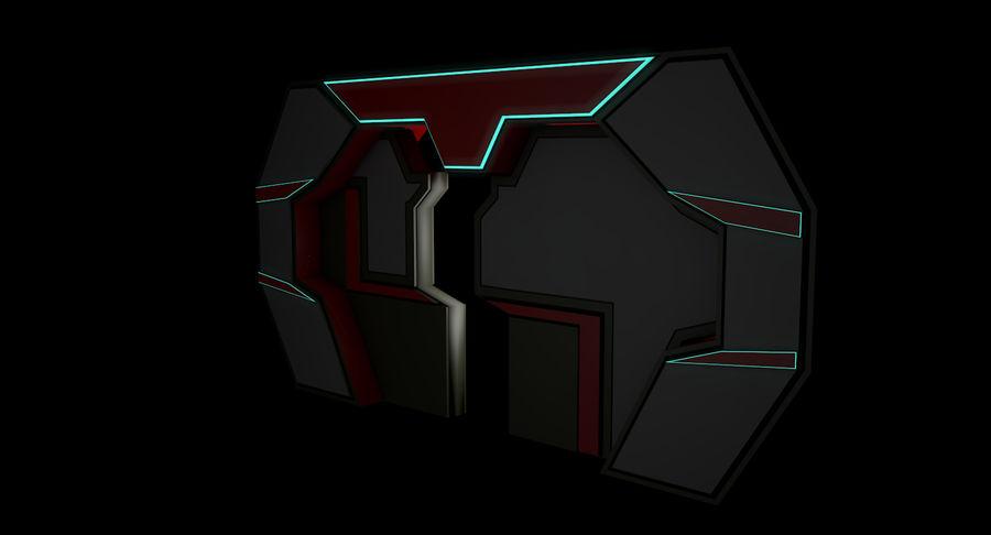 Sci fi corridor 3d model royalty-free 3d model - Preview no. 8