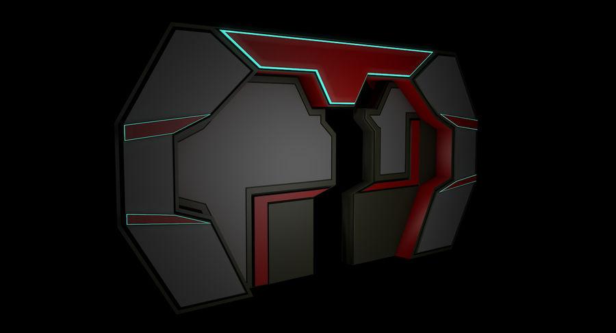 Sci fi corridor 3d model royalty-free 3d model - Preview no. 9