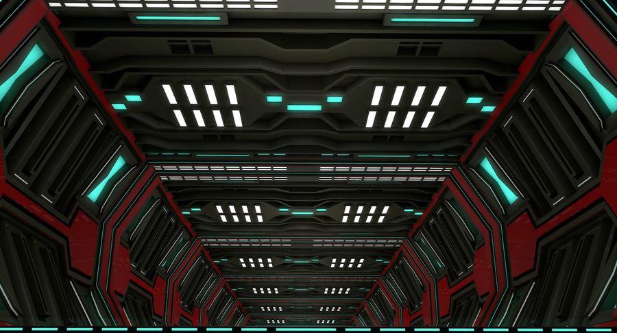 Sci fi corridor 3d model royalty-free 3d model - Preview no. 4