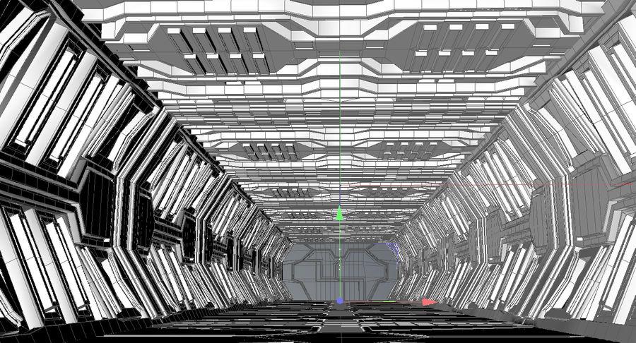 Sci fi corridor 3d model royalty-free 3d model - Preview no. 12