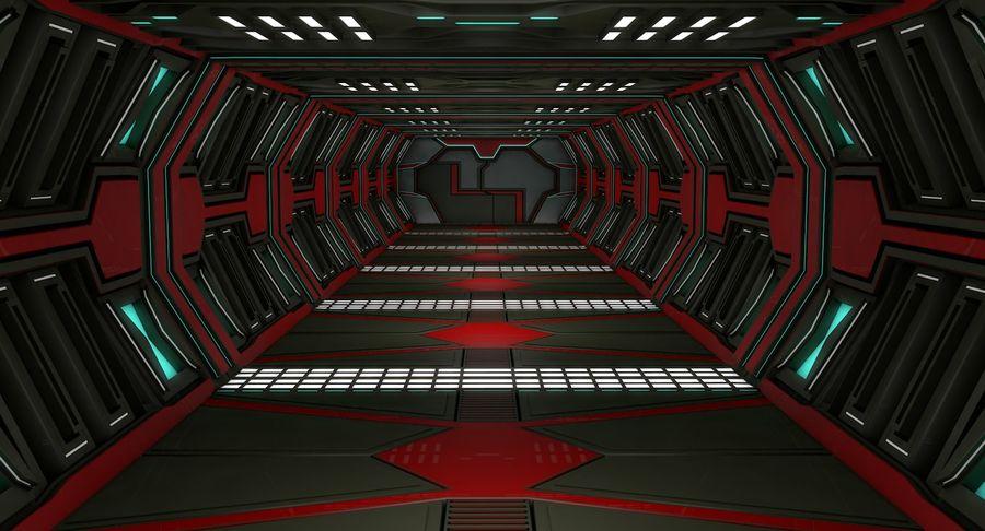 Sci fi corridor 3d model royalty-free 3d model - Preview no. 1