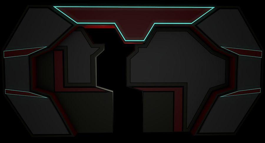 Sci fi corridor 3d model royalty-free 3d model - Preview no. 7