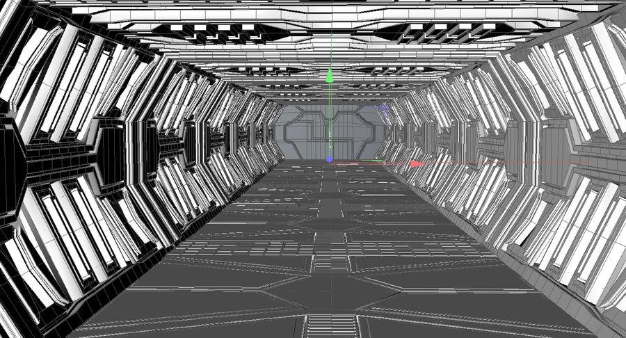 Sci fi corridor 3d model royalty-free 3d model - Preview no. 11