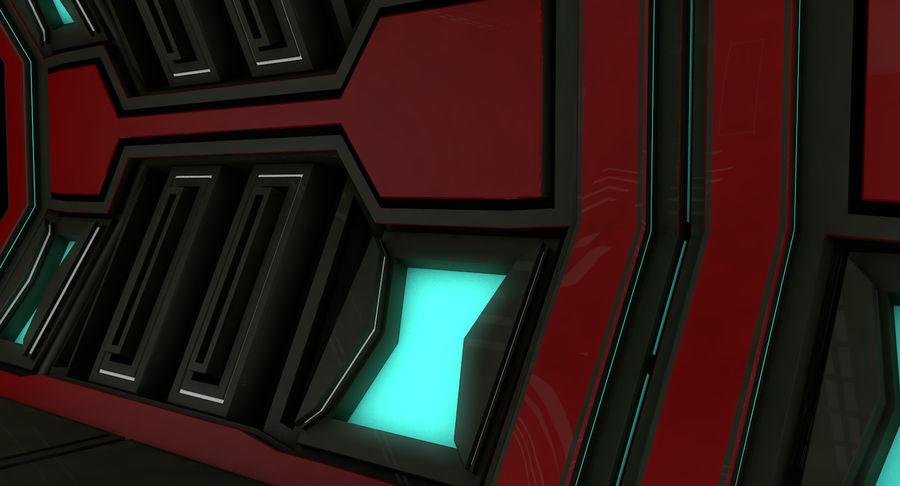 Sci fi corridor 3d model royalty-free 3d model - Preview no. 5