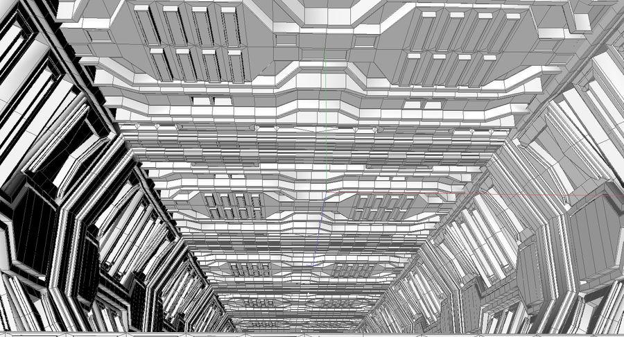 Sci fi corridor 3d model royalty-free 3d model - Preview no. 15