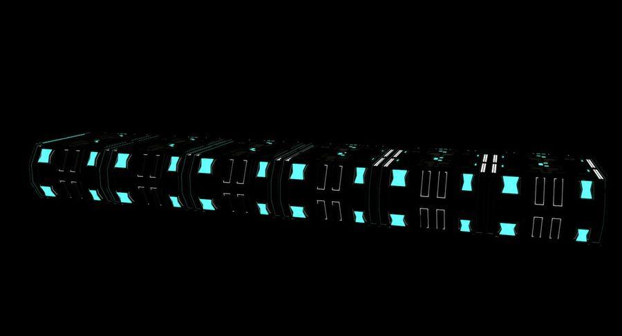 Sci fi corridor 3d model royalty-free 3d model - Preview no. 10