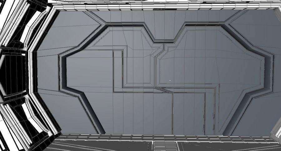 Sci fi corridor 3d model royalty-free 3d model - Preview no. 17