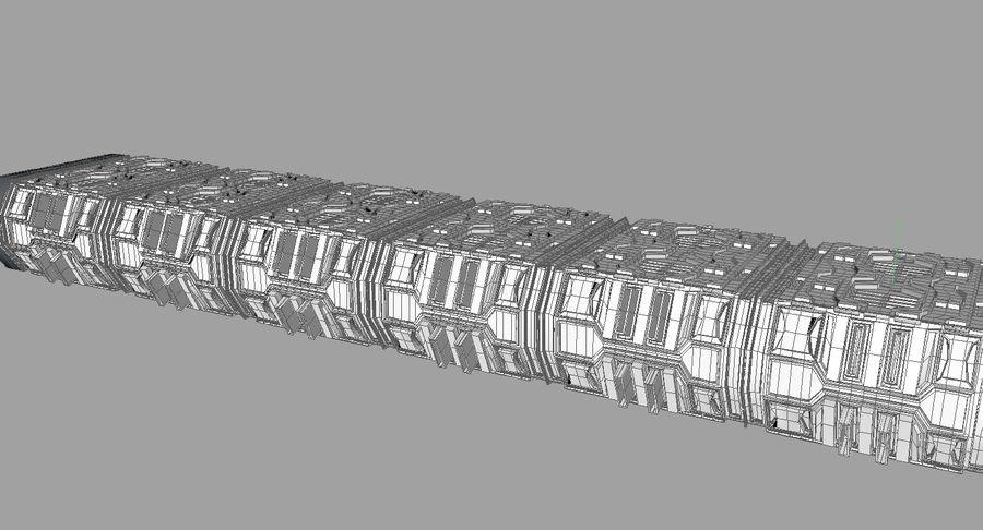 Sci fi corridor 3d model royalty-free 3d model - Preview no. 18