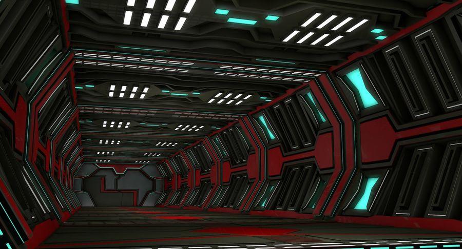Sci fi corridor 3d model royalty-free 3d model - Preview no. 2