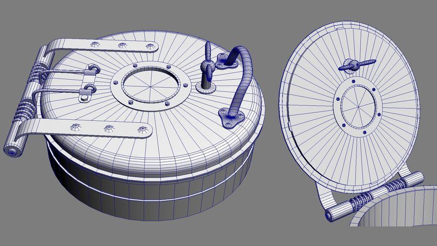 Klapa pokładowa C Szary royalty-free 3d model - Preview no. 7