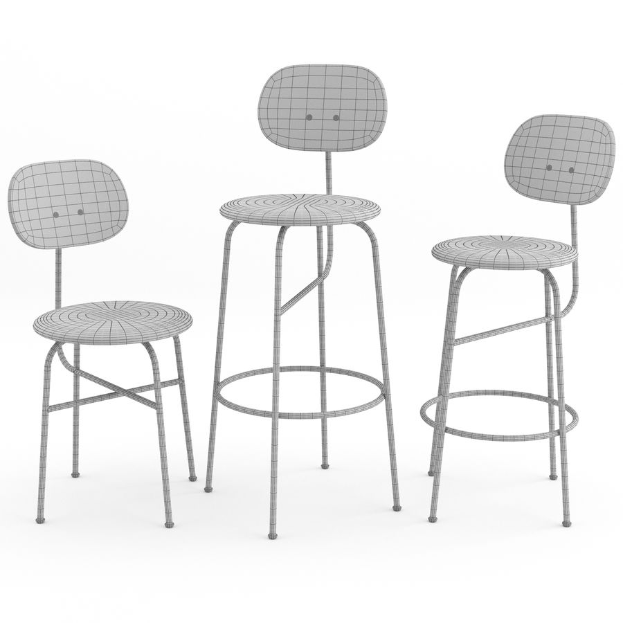 Afteroom Chairs Plus Collection by MENU royalty-free 3d model - Preview no. 5