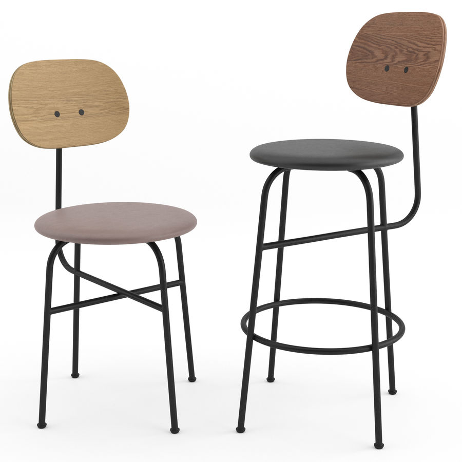 Afteroom Chairs Plus Collection by MENU royalty-free 3d model - Preview no. 3