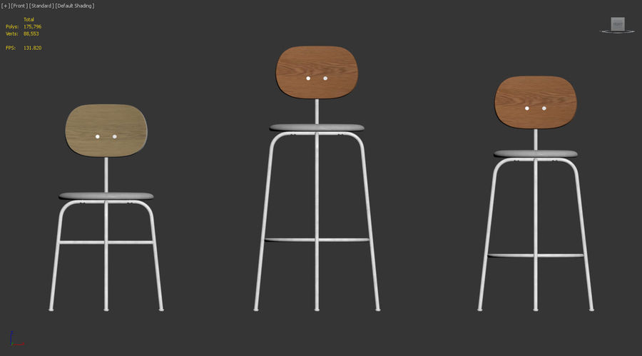 Afteroom Chairs Plus Collection by MENU royalty-free 3d model - Preview no. 6