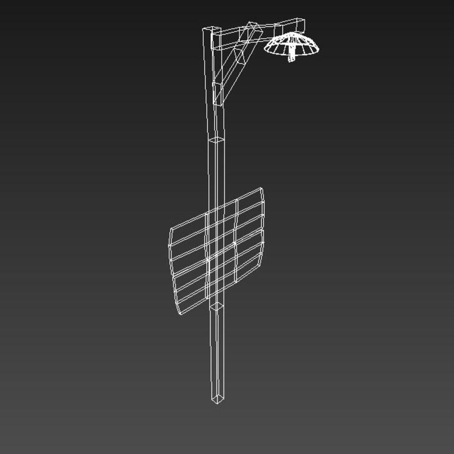 Drewniane oznakowanie kierunkowe royalty-free 3d model - Preview no. 6