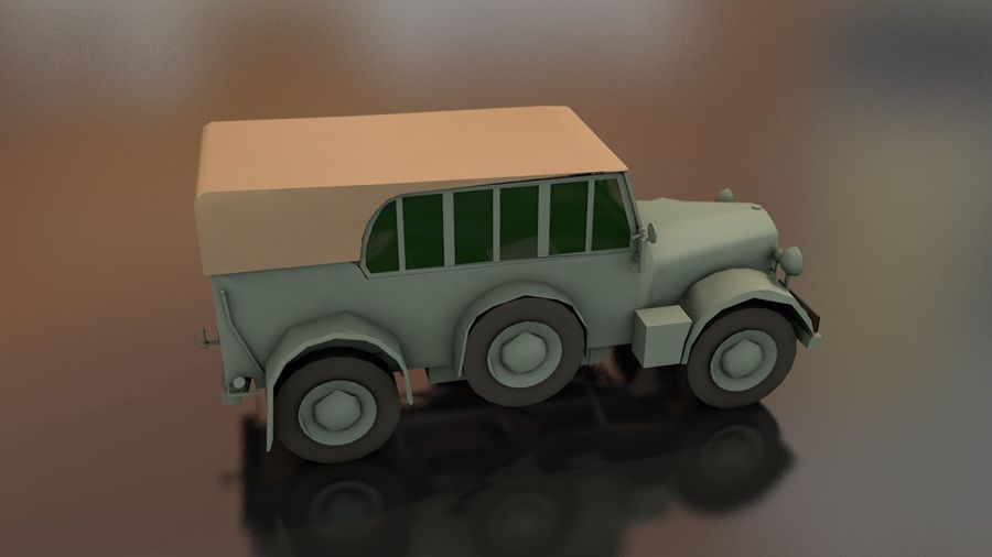 Horcher Military Vehicle royalty-free 3d model - Preview no. 8
