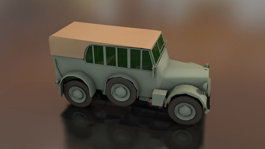 Horcher Military Vehicle royalty-free 3d model - Preview no. 7