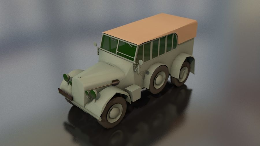 Horcher Military Vehicle royalty-free 3d model - Preview no. 1