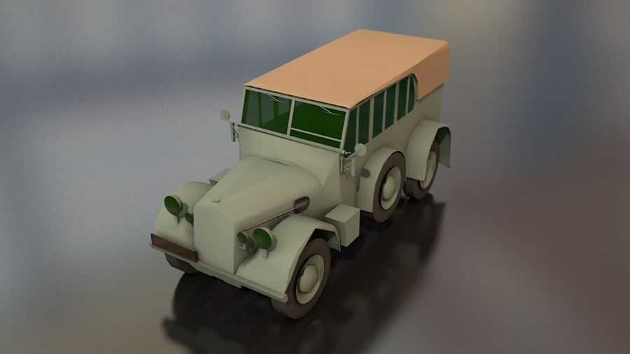 Horcher Military Vehicle royalty-free 3d model - Preview no. 2