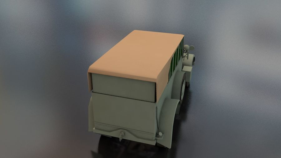 Horcher Military Vehicle royalty-free 3d model - Preview no. 10