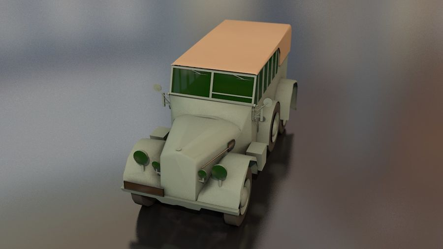Horcher Military Vehicle royalty-free 3d model - Preview no. 3
