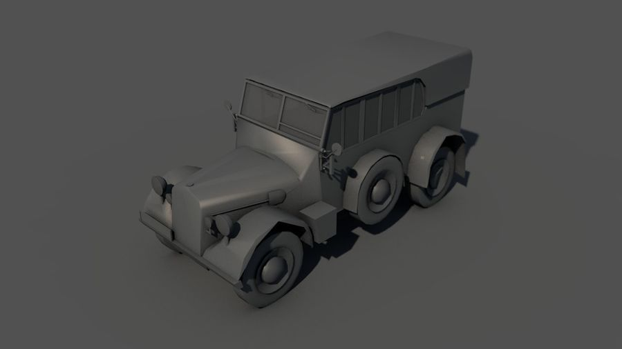 Horcher Military Vehicle royalty-free 3d model - Preview no. 15