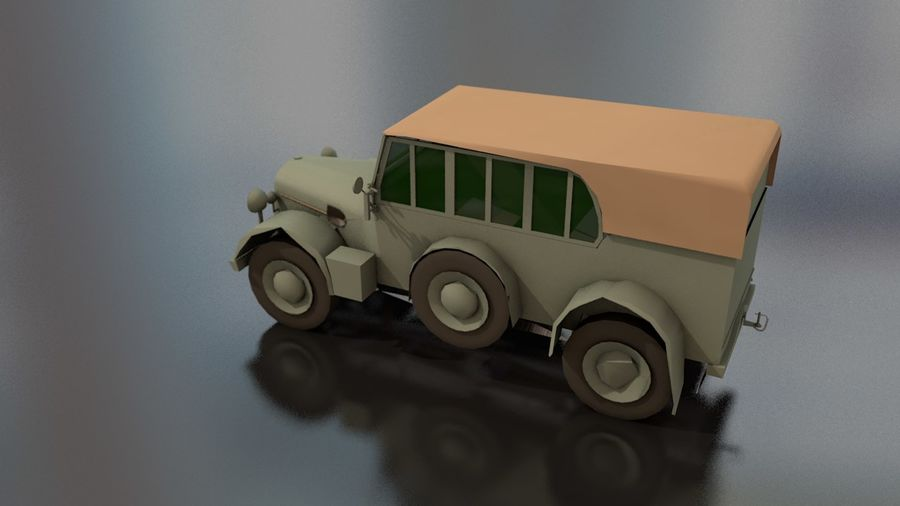 Horcher Military Vehicle royalty-free 3d model - Preview no. 13