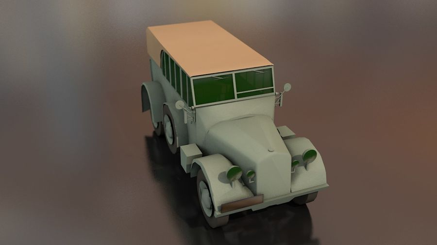 Horcher Military Vehicle royalty-free 3d model - Preview no. 5
