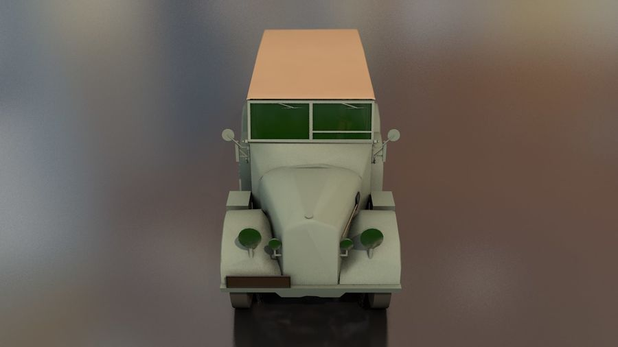 Horcher Military Vehicle royalty-free 3d model - Preview no. 4