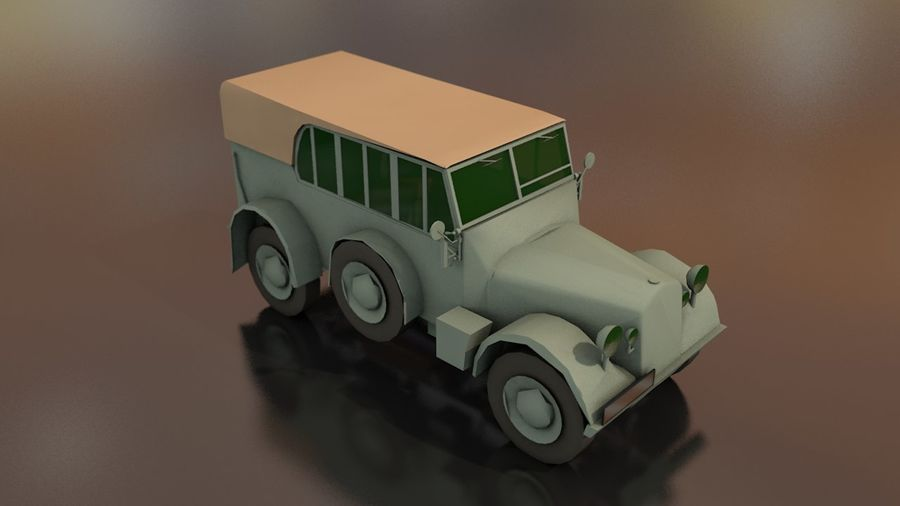 Horcher Military Vehicle royalty-free 3d model - Preview no. 6