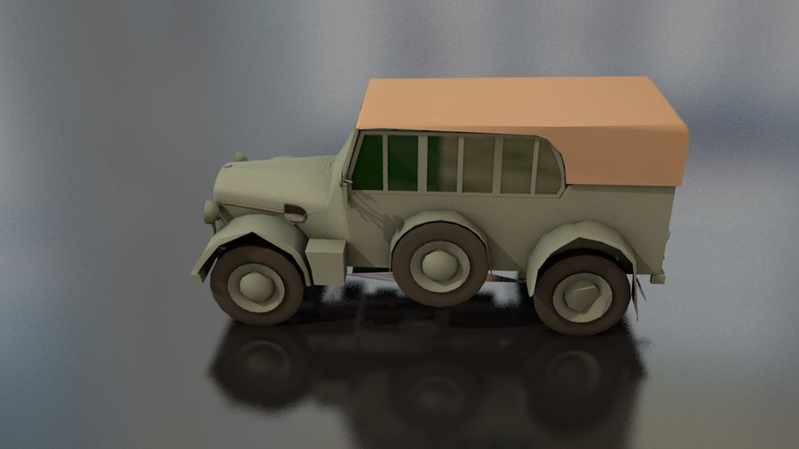 Horcher Military Vehicle royalty-free 3d model - Preview no. 14