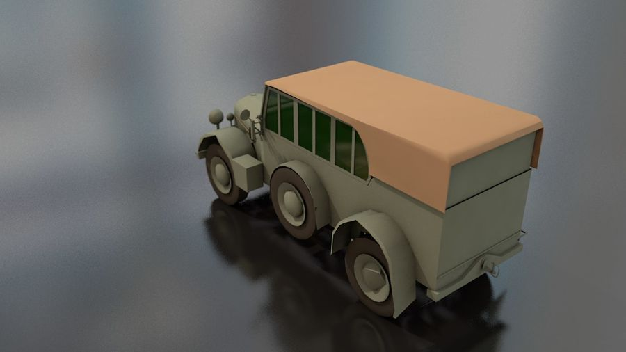 Horcher Military Vehicle royalty-free 3d model - Preview no. 12