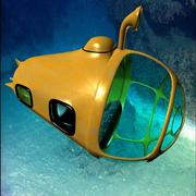yellow submersible 3d model