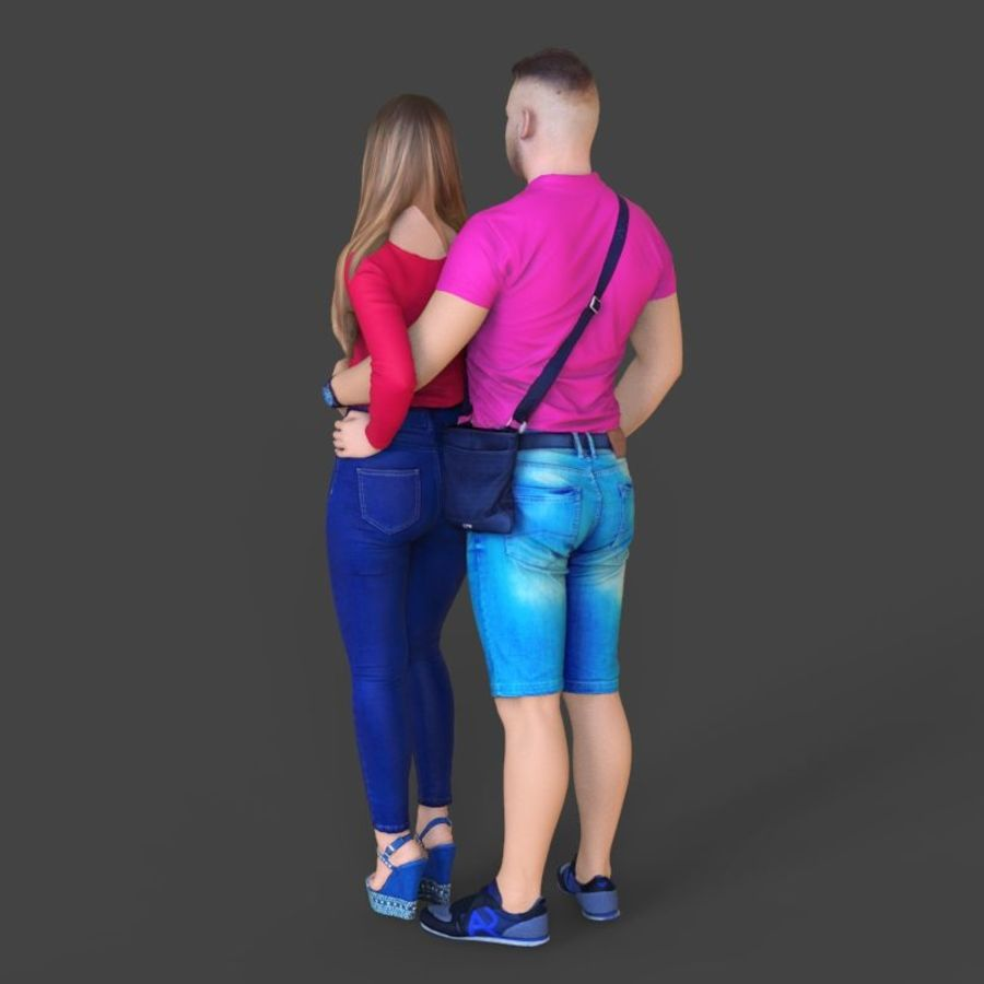 Man and woman couple royalty-free 3d model - Preview no. 3