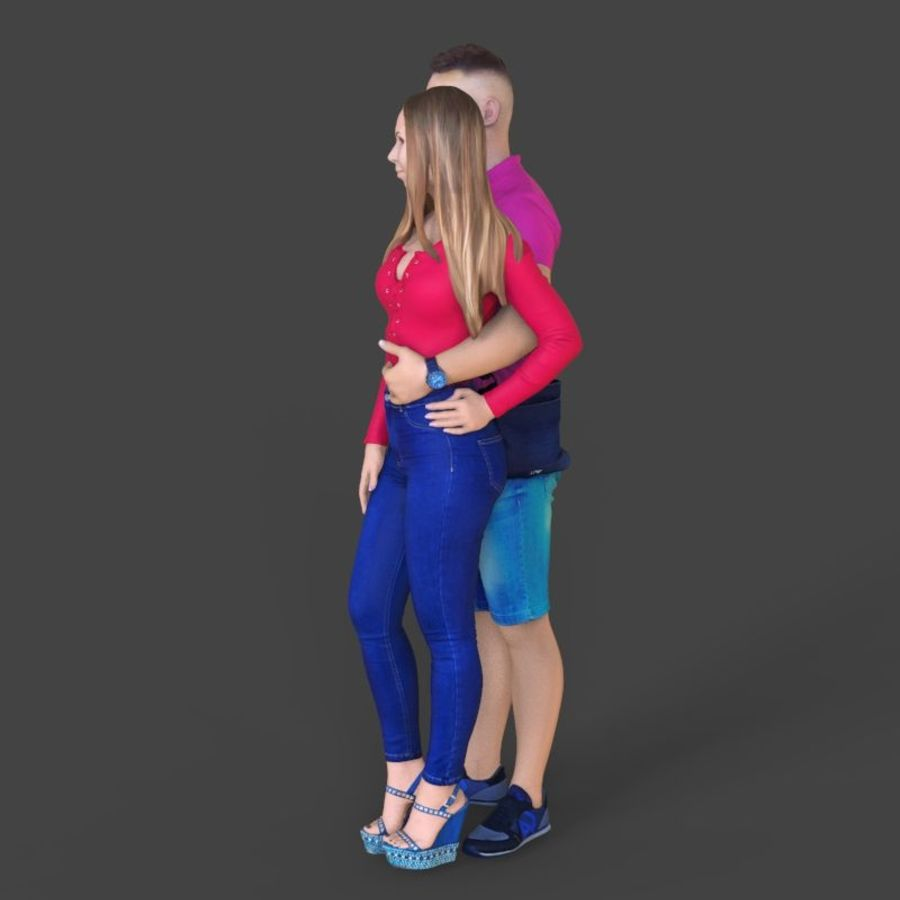 Man and woman couple royalty-free 3d model - Preview no. 2