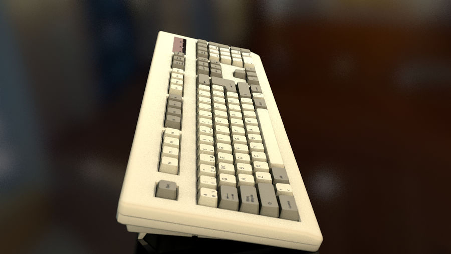 Computer Keyboard royalty-free 3d model - Preview no. 11
