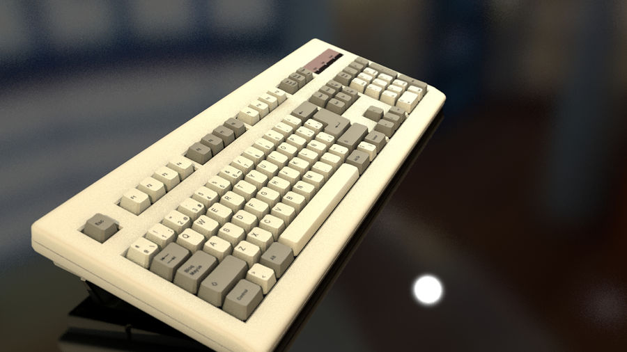 Computer Keyboard royalty-free 3d model - Preview no. 12