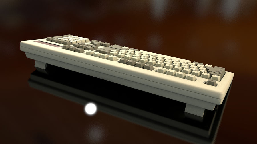 Computer Keyboard royalty-free 3d model - Preview no. 9