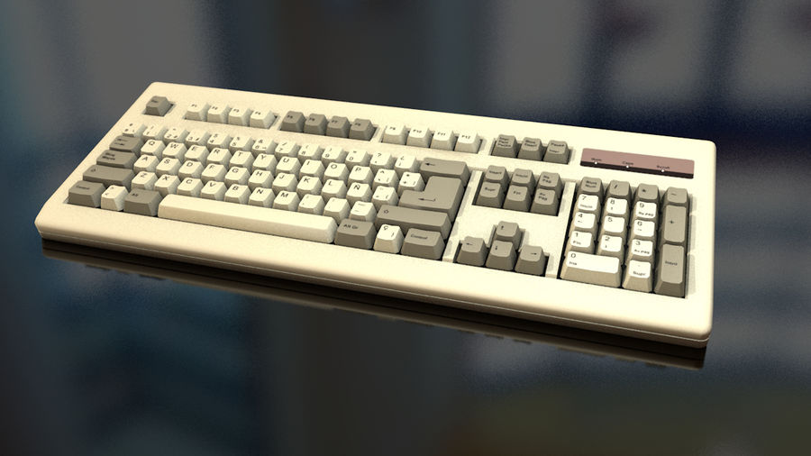 Computer Keyboard royalty-free 3d model - Preview no. 16
